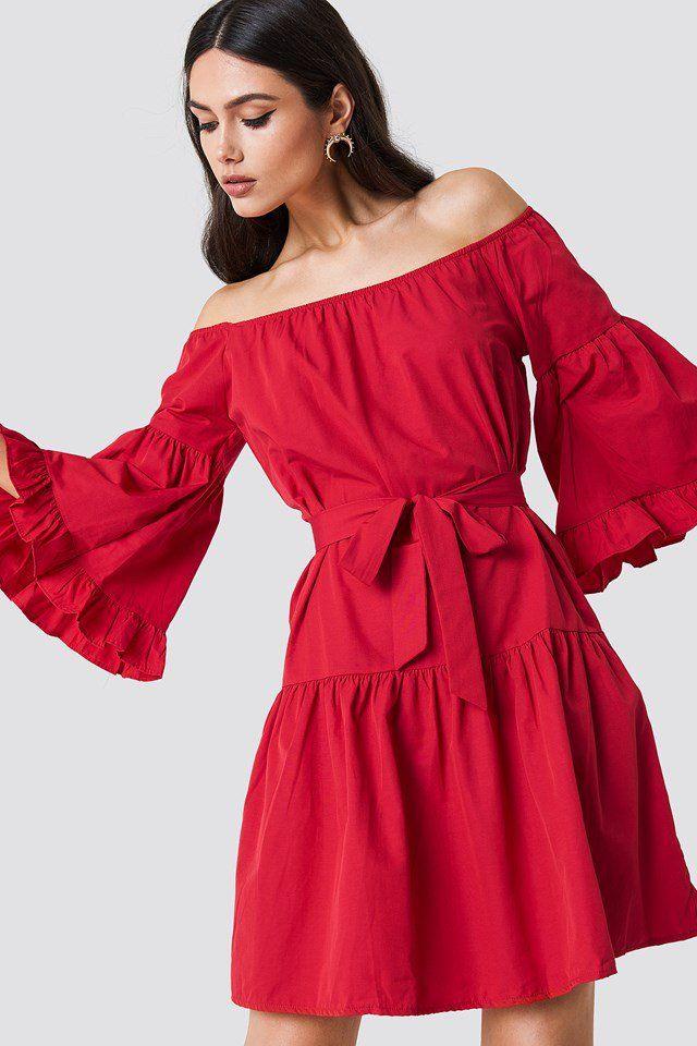 De Midi Off Dress P'tites Robes Frill Na Jour comLes Shoulder Kd PTwkZiOXlu