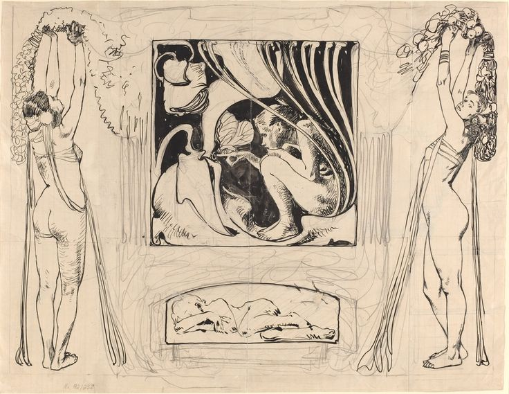 Koloman Moser. Allegory of Summer, in or after 1896