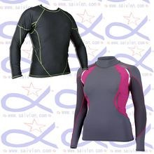 Customize Women Lycra Long Sleeve Rash Guard UV-Shirt