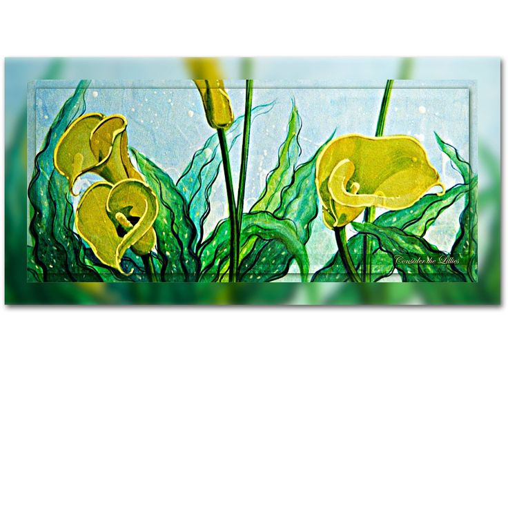 CONSIDER THE LILIES 2 - From the hand of a master craftsman - Ian Anderson Fine Art http://ianandersonfineart.com/portfolio-1/