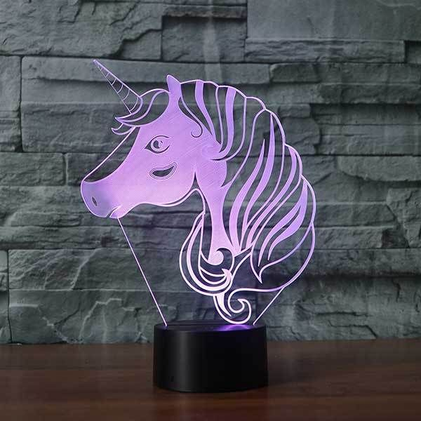 Unicorn V2 3d Illusion Lamp In 2020 3d Illusion Lamp 3d Illusions Illusions