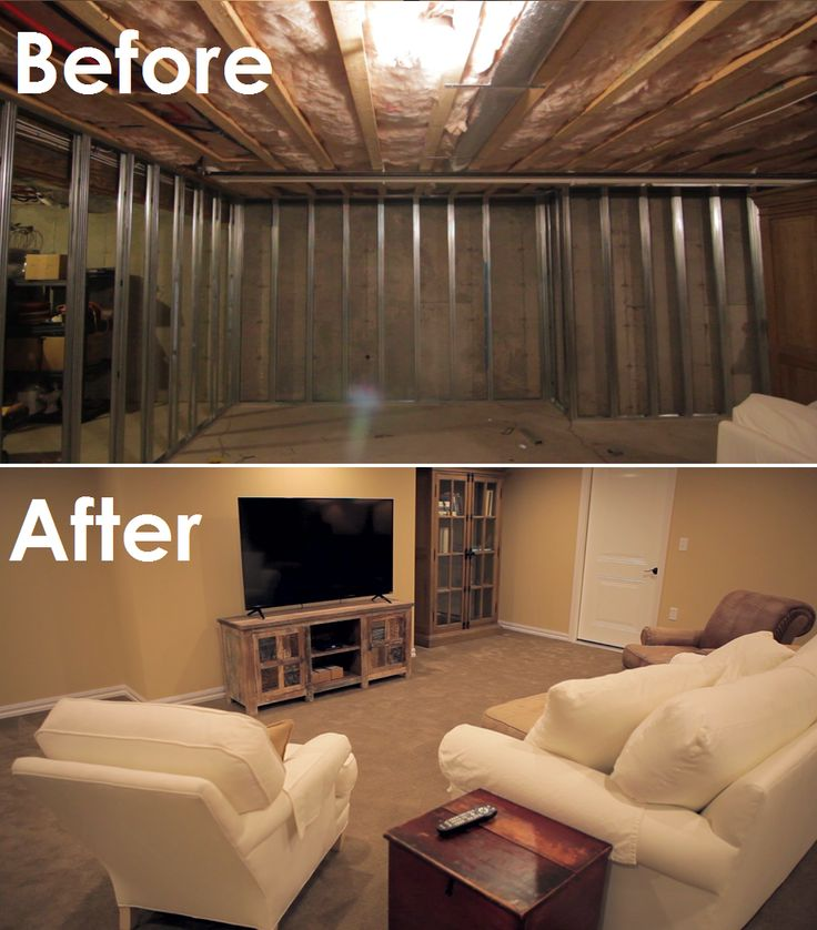 15 Best Images About Before & After Basement Photos On