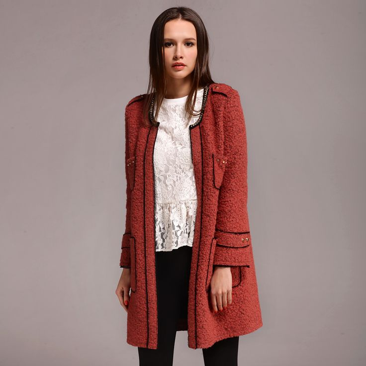 Manteaux de laine rose