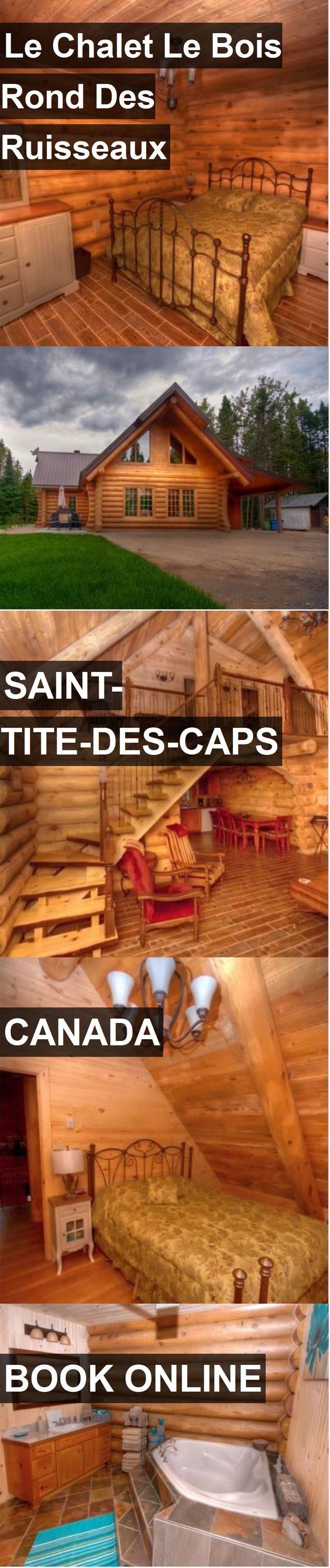 Hotel Le Chalet Le Bois Rond Des Ruisseaux in Saint-Tite-des-Caps, Canada. For more information, photos, reviews and best prices please follow the link. #Canada #Saint-Tite-des-Caps #hotel #travel #vacation