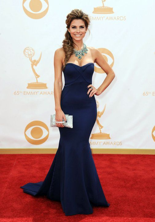 #emmyfashion Maria Menounos arrives at the 65th Primetime Emmy Awards at the Nokia Theatre in Los Angeles on September 22, 2013.