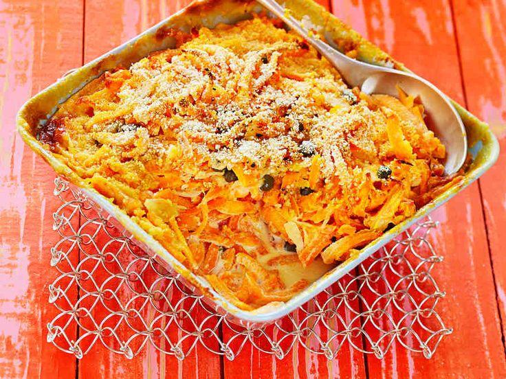 Tuoreen sadon porkkanat maistuvat kiusauksessa. http://www.yhteishyva.fi/ruoka-ja-reseptit/reseptit/porkkanakiusaus/014262