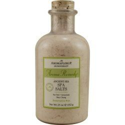 Aromafloria Aroma Remedy Spa Salt, 23 oz by Aromafloria. Save 25 Off!. $14.99. Recommended Use:. ANCIENT SEA SPA SALTS 23 OZ BLEND OF TEA TREE, GERANIUM, AND MAY CHANG (PRESERVATIVE FREE). Fragrance Notes:. Active anti-bacterial essential oils help boost the immune system to defend against cold and flu. Ancient sea minerals and natural sea extracts bring balance and healing to make your bath relaxing, soothing and purifying. This active essential oil blend is like no other- it comforts ...