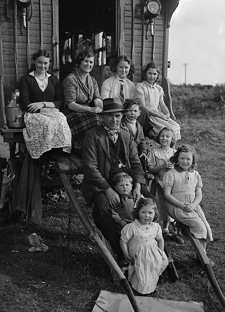 Welsh Gypsy family, 1951