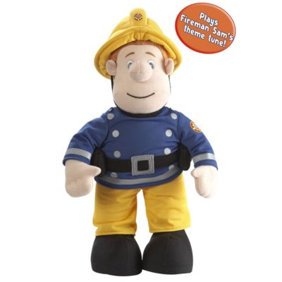 Fireman Sam Talking Fireman Sam 12 inch Plush Toy 03373 Fireman Sam 12 huggable plush can be taken on any firefighting adventure. Press Sams hand, and this soft cuddly toy will say phrases from the show. A great toy for little ones and especially those Fi http://www.comparestoreprices.co.uk/soft-toys/fireman-sam-talking-fireman-sam-12-inch-plush-toy-03373.asp