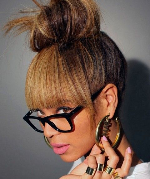 Beyonce Hairstyles: Lovely Hair Knot