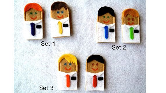 LDS Missionary Finger Puppets - Elders (set of 2 puppets)