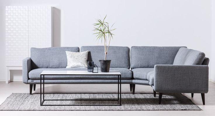 EVEREST byggbar soffa, STONE marmorbord #SvenskaHem #Byggbar #Hörnsoffa #Marmor #Brunstad