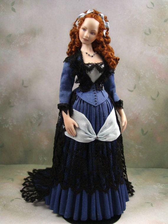 OOAK 1:12th Scale Porcelain Dollhouse Miniature by terrisdolls
