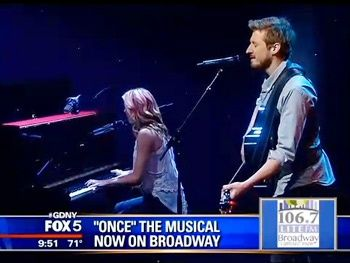 Arthur Darvill and Joanna Christie singing Falling Slowly from Once