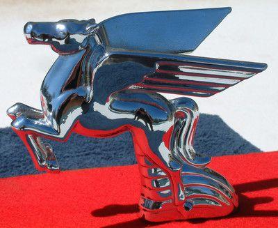 Pegasus Flying Horse Hood Ornament Vintage Radiator Cap Mascot | eBay