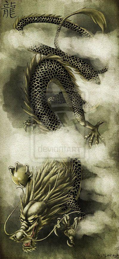 Chinese Dragon by Autlaw.deviantart.com on @deviantART --Amazing Dragon.
