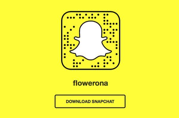 Flowerona Tips : Share your unique Snapchat URL | Flowerona