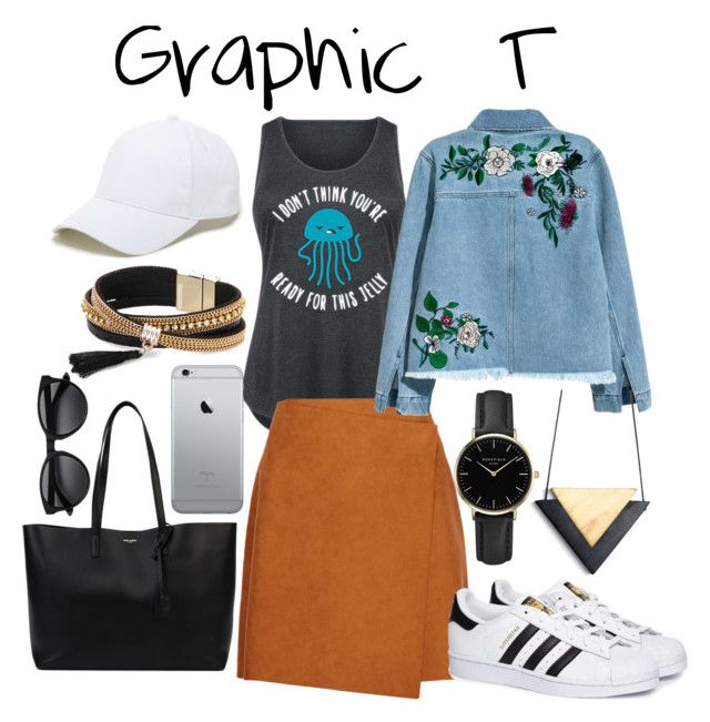 Graphic T by ratihasmarani on Polyvore featuring Sporteez, H&M, MSGM, adidas, Yves Saint Laurent, Simons, ROSEFIELD, Sole Society and plus size clothing