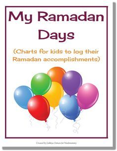 My Ramadan Days Charts For Kids only on muslimommy.com