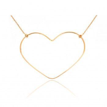 VANRYCKE Halskette ANGIE mit mittlerem Herz in 18 KT Roségold