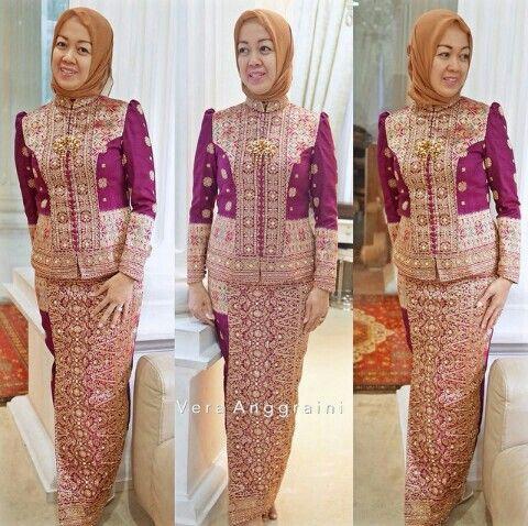 Kebaya from Songket by Indonesian Designer VERA ANGGRAINI