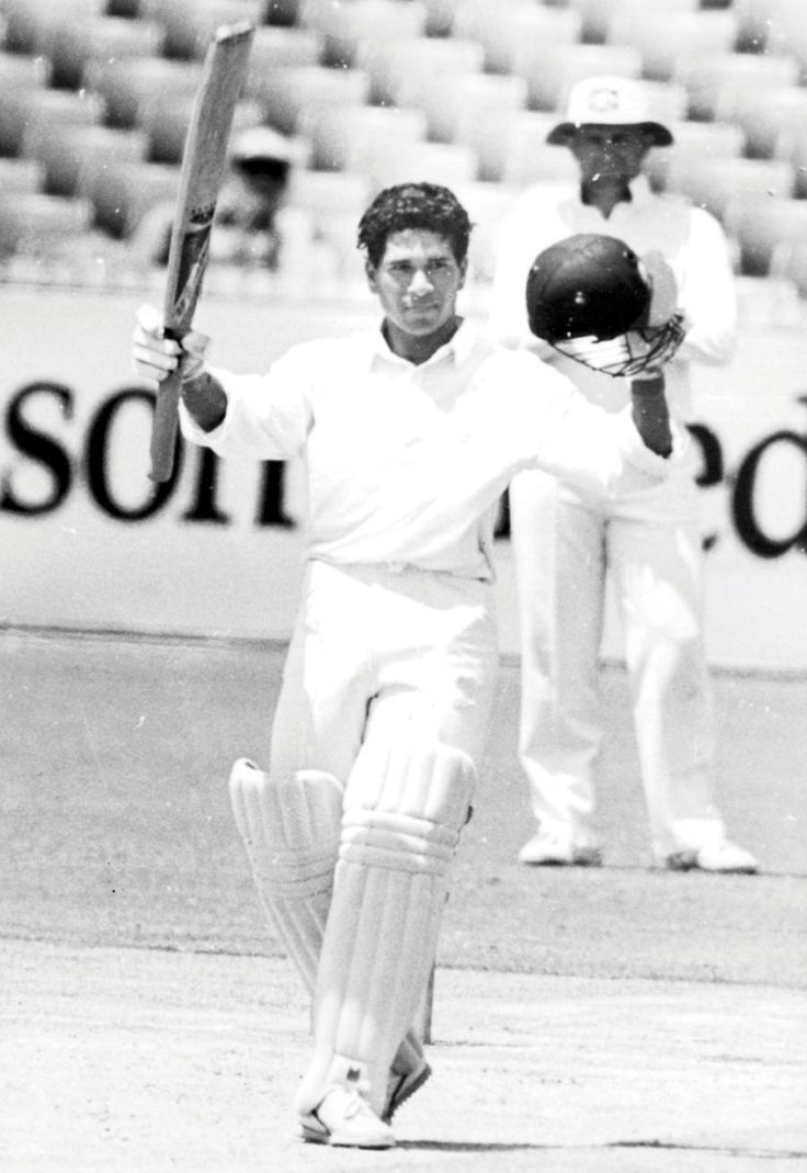"""No. 3: On a lethal pitch at the WACA in 1992, Tendulkar made 114 against an attack that included Craig McDermott and Merv Hughes, scoring the bulk of his runs with square cuts. """"That is when I felt that, yes, now I am here to play cricket anywhere in the world, any bowling attack and I am confident enough to tackle them,"""" he would say, years later.  www.200th.in"""
