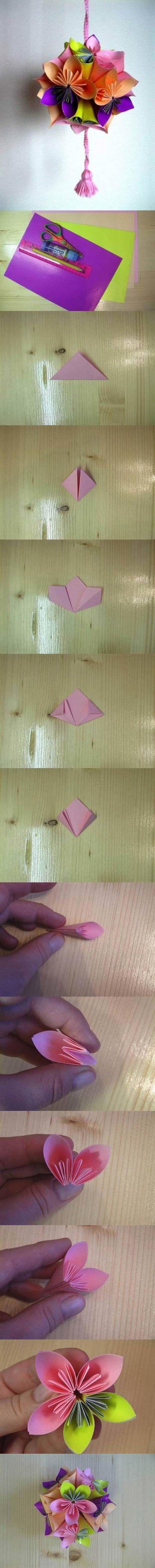 DIY Origami Flower Project by bgenia