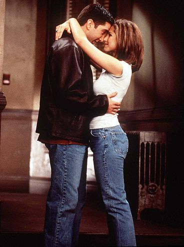 Ross and Rachel (David Schwimmer and Jennifer Aniston) #Friends