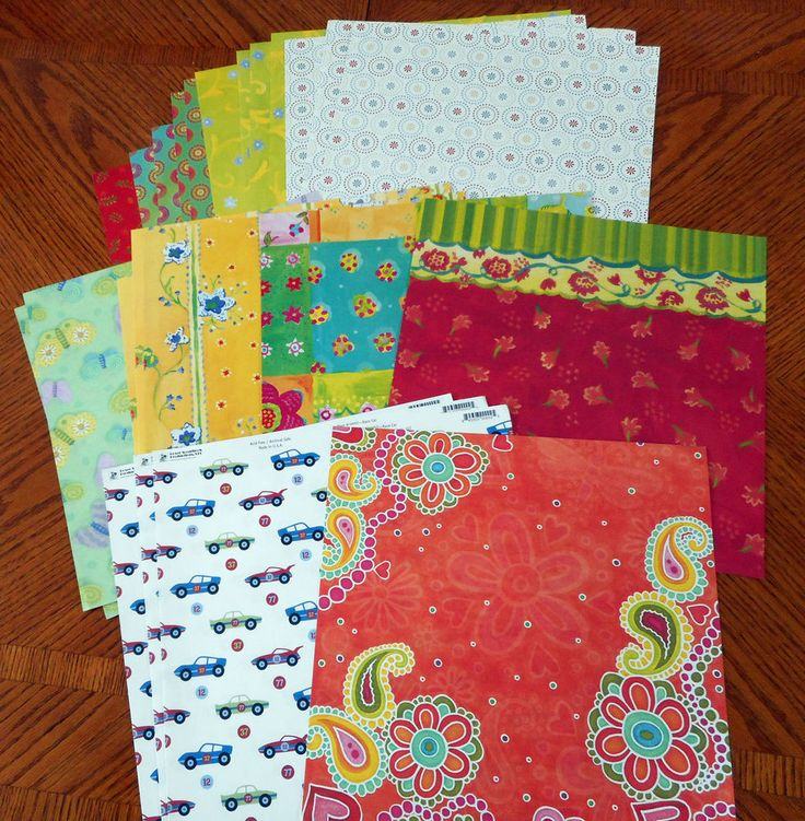 """Scrapbooking  24 Paper Pages  12"""" X 12""""   A7#6 #Various"""