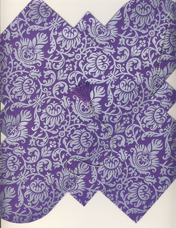Purple-Silver # 94 Collapsible Box  (117)