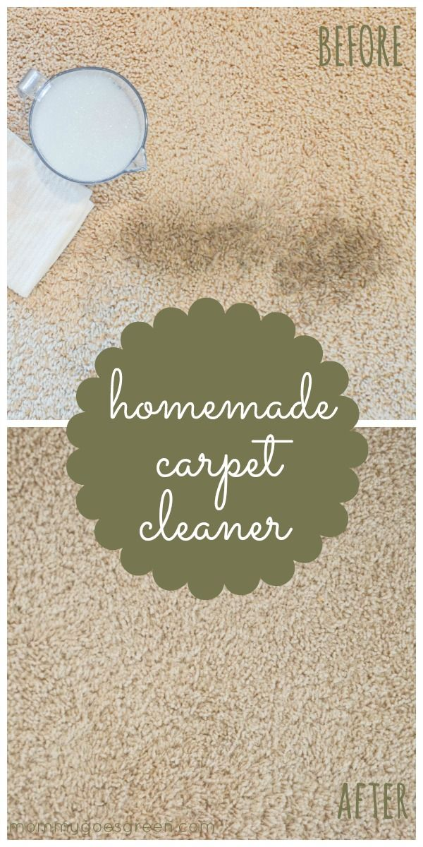 Homemade Carpet Cleaner: 2 T baking soda, sprinkle on stain, sits for 10 min, vacuum,11/2 t clear dishwasher liquid, 11/2 t vinegar, and 1c warm water...dab onto stain with white rag, blot up with another white ragIt totally works!