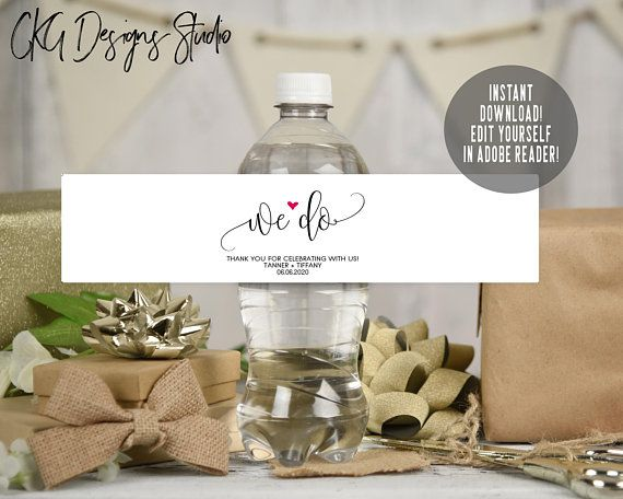 Your Place To Buy And Sell All Things Handmade Water Bottle Labels Wedding Wedding Water Bottles Wedding Water Bottle Labels Free