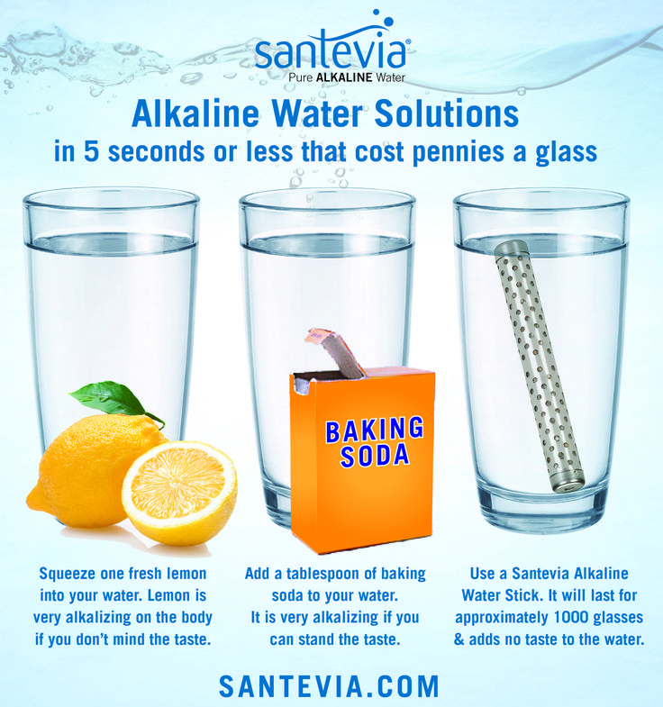 Easy, inexpensive ways to get alkaline water.  santevia.com