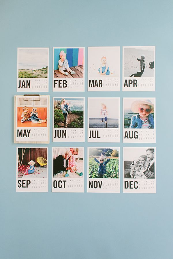 Einen Kalender mit Bildern für das nächste Jahr machen - von Muttertag zu Muttertag ;-)