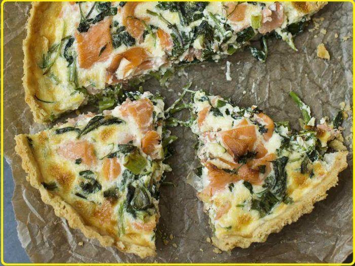 Salmon And Watercress Tart Top Best Recipes Quiche Recipes Salmon Quiche Smoked Salmon Quiche