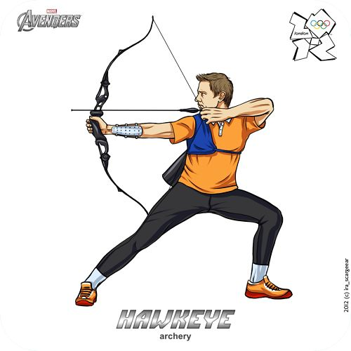 Hawkeye at the Olympic Games, The Avengers