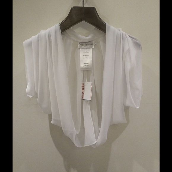 David's Bridal Other - DAVID'S BRIDAL White Chiffon Bolero Jacket
