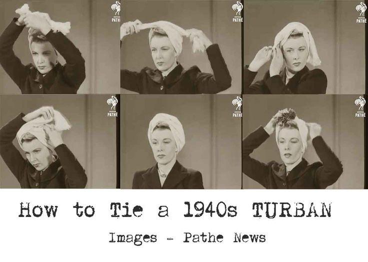1940s-Fashion---How-to-make-a-Glamorous-Turban---Method-1