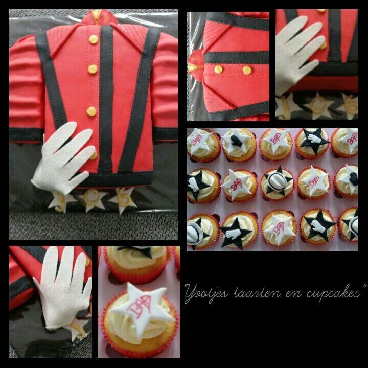 Michael Jackson taart en cupcakes