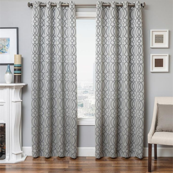 Exhale Curtain Panel In A Quatrefoil Design Available In 4 Colors