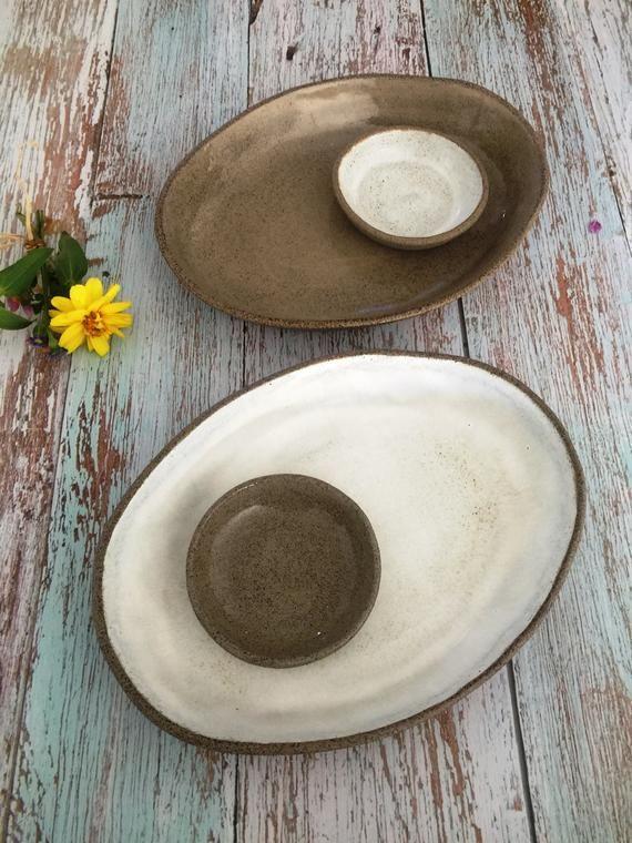 Serving Platters Handmade Pottery Serving Tray Set Ceramic Etsy In 2020 Ceramic Platters Small Ceramic Bowl Serving Tray Set