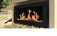 Caminetto camino stufa bioetanolo da parete 90 cm acciaio nero in Casa, arredamento e bricolage, Caminetti e accessori, Caminetti   eBay