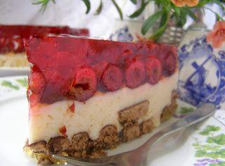 W Mojej Kuchni Lubię.. : deser jogurtowy bananowy na zimno z wiśniami na he...