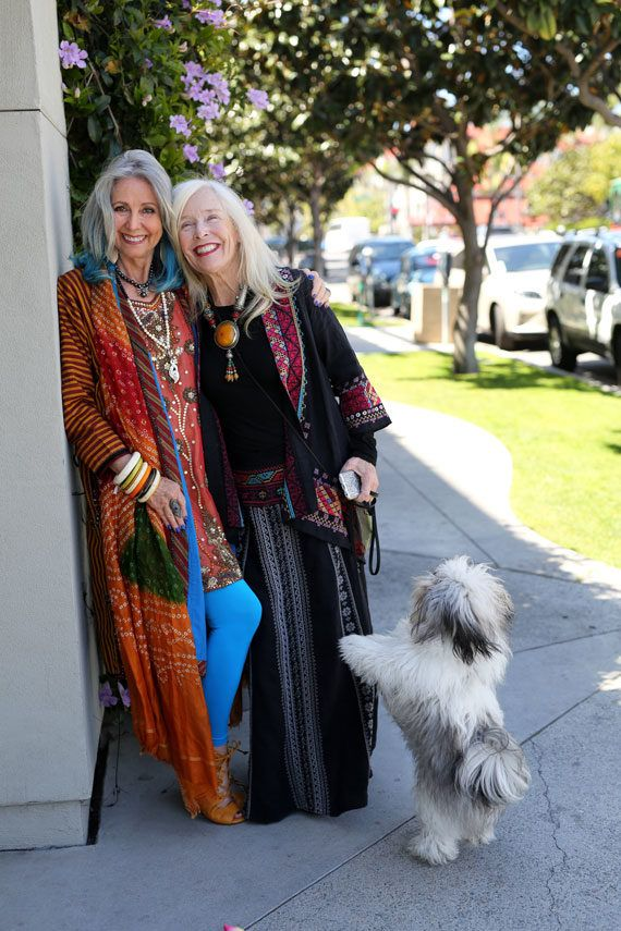 These two boho beauties are still killing it in their older years! Love it!