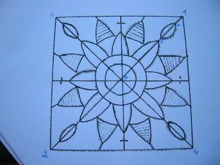 Dentelles d'abord: Tutorial 2: Reticella Bookmark: merletto ad ago geometrico Parte 2