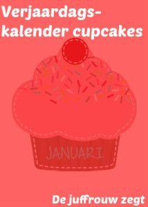 Verjaardagskalender cupcake - De juffrouw zegt