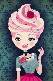 Oh my goodness if only I could have cupcakeingly awesome hair!!.  Let them eat cupcakes! by Maria Danalakis
