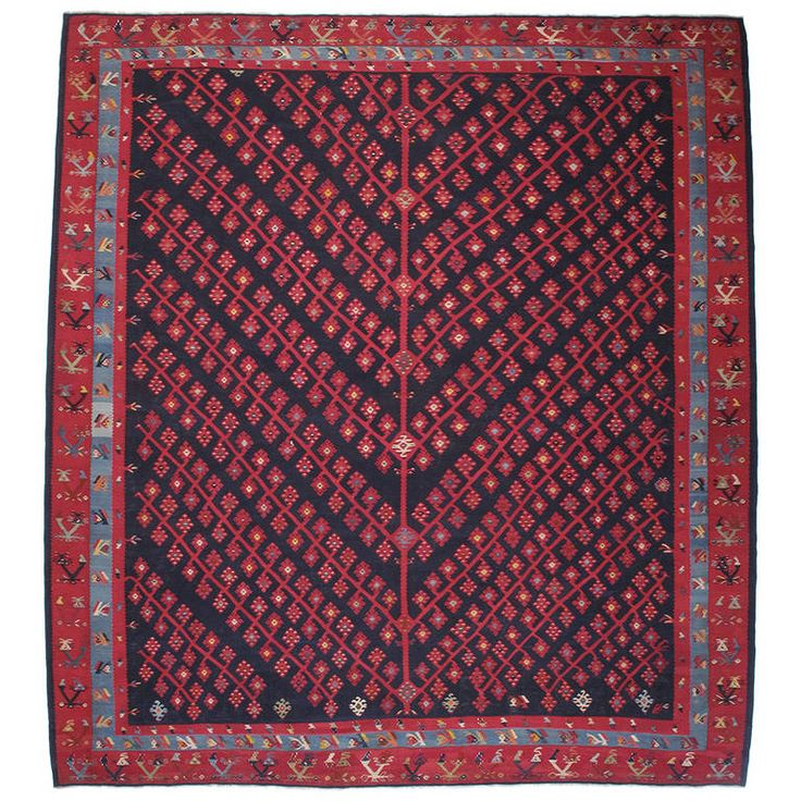 Superb Antique Sharkoy Kilim | From a unique collection of antique and modern caucasian rugs at https://www.1stdibs.com/furniture/rugs-carpets/caucasian-rugs
