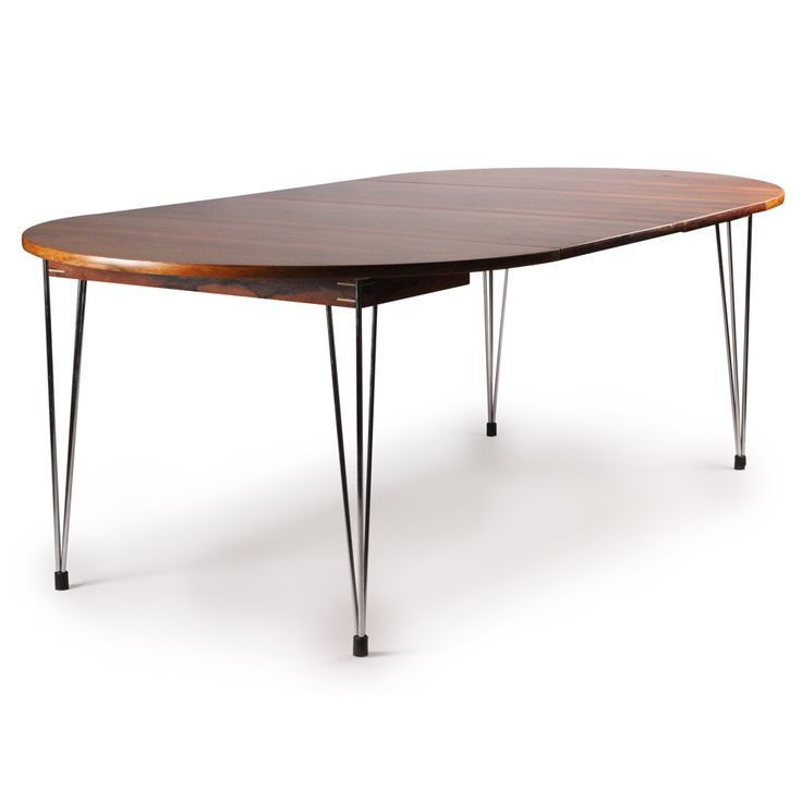 Hans Brattrud Rosewood and Chromed Metal Dining Table for  : 7e17aaec9972196254a4041f84b58d4a from www.pinterest.com size 736 x 736 jpeg 23kB