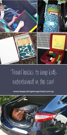 Travel hacks for road trips with kids | Keep Calm Get Organised Clever ways to keep kids entertained in the car including travel games and more!